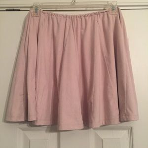 Pink Suede Skirt